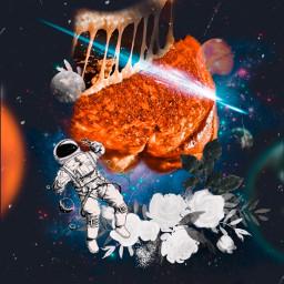 freetoedit astronaut flowers grilledcheese sandwich