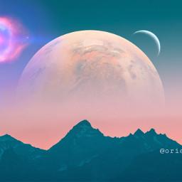 madewithpicsart imagination planet moon supernova freetoedit