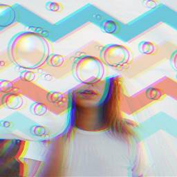 freetoedit bubbles glitchy srczigzagpattern