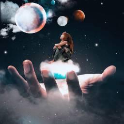 freetoedit ircuniverseinyourhand universeinyourhand galaxy planets