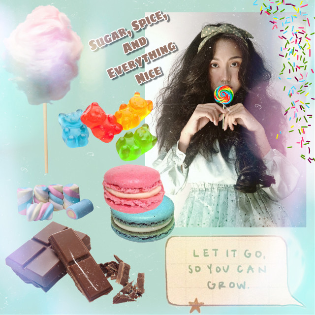 #freetoedit #replay #candy #girl #lolipop #cottoncandy #chocolate #marshmellow #gummybear #macoroon #macoron