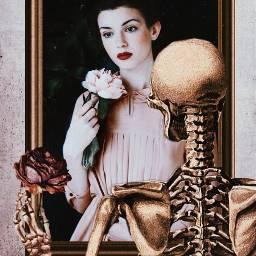 art surreal skeleton vanitas fantasy freetoedit