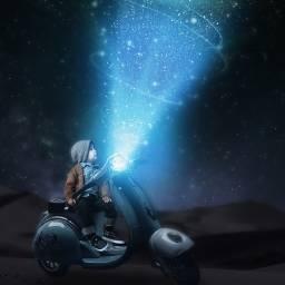 surreal fantasy light sky stars freetoedit