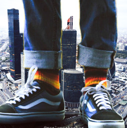 freetoedit bigfoot giant city surreal