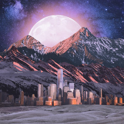 freetoedit mountain surreal collage