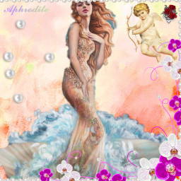 freetoedit aphrodite love cupid pearl ectherenaissance therenaissance