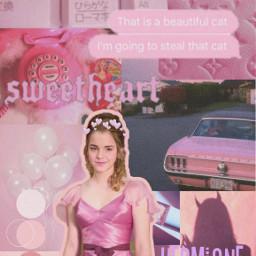 freetoedit harrypotter hermionegranger pink aesthetic