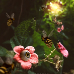 surreal fauspre madewithpicsart flower forest