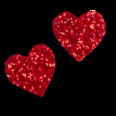 glitter hearts valentinesday love freetoedit