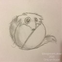 traditionalart art sketch animals weasal