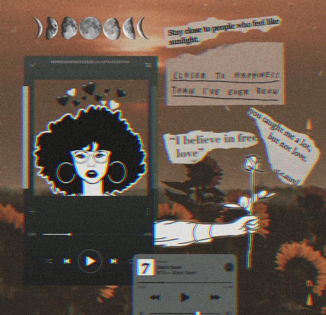 L O U D  #freetoedit #girl #black #aesthetic #love #bored #music #art