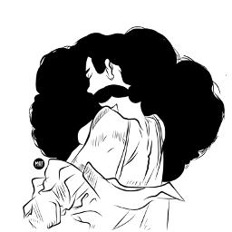 freetoedit myedit outline sketch afro