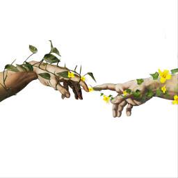 art god painting ivy vine freetoedit