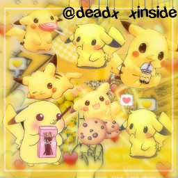 edit pikachu pokemon cute electric freetoedit