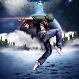 heypicsart freetoedit dancer ufo space