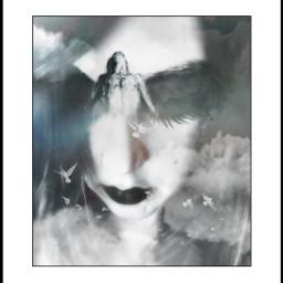 angeleyes surrealart art madewithpicsart woman freetoedit