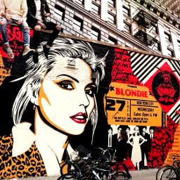 freetoedit blondie debbieharry streetart city