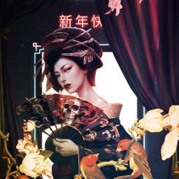 freetoedit chinese fairytail adventure geisha ircchinesenewyear chinesenewyear