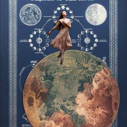 freetoedit moon phases dance girl