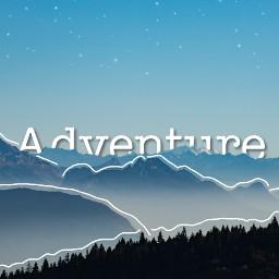 freetoedit adventure landscape mountains blue