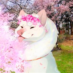 freetoedit blossom dog cute kawaii