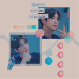 jinyoung blue pink aesthetic got7 freetoedit