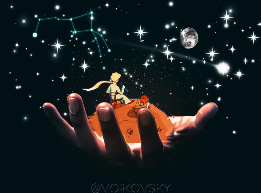 #freetoedit #cosmos #hand #prince #Luna #galaxy