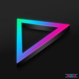 freetoedit triangle 3d neon 4asno4i ftestickers