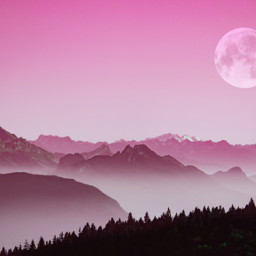 freetoedit nature moon saturation pink