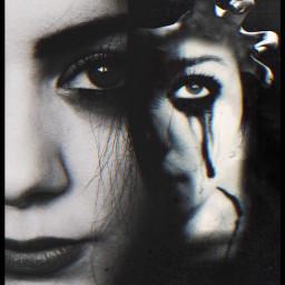 babelart anxiety woman innerself madewithpicsart freetoedit