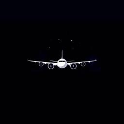 plane fly sky black night
