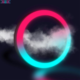 freetoedit background circle 3d neon ftestickers