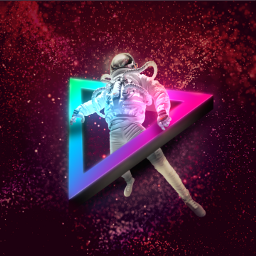 freetoedit triangle 3d neon space ftestickers