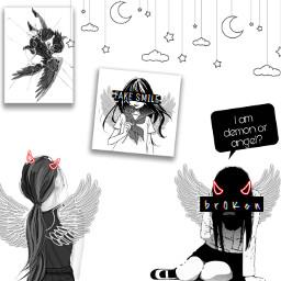freetoedit fanartofkai angel demon angelanddemon