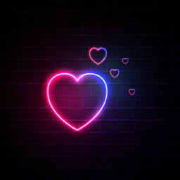 background heart neon 4asno4i freetoedit ftestickers