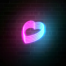 freetoedit background heart neon 4asno4i ftestickers