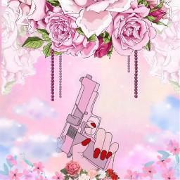 pinkaesthetic pink flowers roses freetoedit