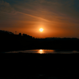 sunrise reflection puddles sun colourful freetoedit