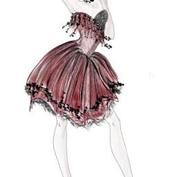 fashion moda abito artwork design