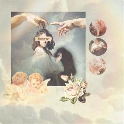 freetoedit renaissance angels flowers stickers ectherenaissance therenaissance
