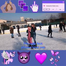 purple bestfriends polishgirls photo lodowisko freetoedit