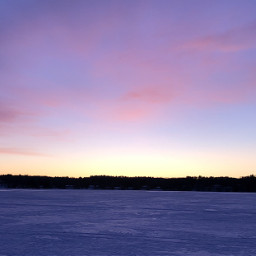 lake sunset sky ice snow freetoedit