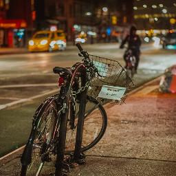 ny nyc manhattan night bike freetoedit