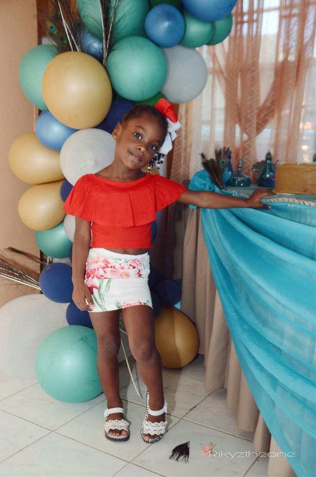 - • • • • • • • #girl#kid#reddress#darkskin#smile#party#model#infant#freetocrop#createdonthate#designer#red#melanin#afro#chocolate#happy
