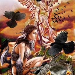 freetoedit birds blackbirds angel warrior srcbirds
