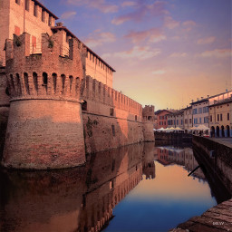 italy medieval fortress castle moat