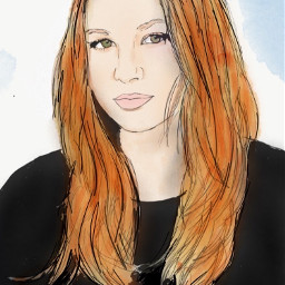 freetoedit draw colorful beautiful girl