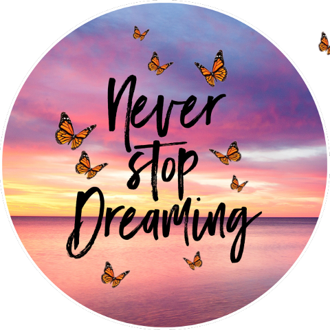 #neverstopdreaming,#sunset,#butterflies,#quote,#freetoedit,#scquotes,#quotes