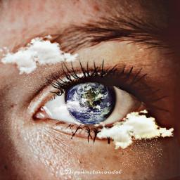 freetoedit eye cloud rain earth ircmysteriouseye
