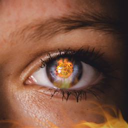 freetoedit eye occhio eyechallenge fire fuoco horse flame fiamma